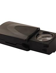 45x 21mm juweliers loep / vergrootglas met witte led verlichting (3 * lr1130)