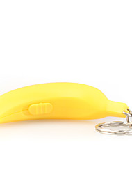 Yellow Or Green Banana Shaped Led Keychain (Random Color)