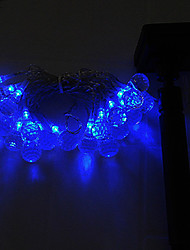 Solar LED Fairy Light String Xmas Party Wedding Garden Tree Decor Blue