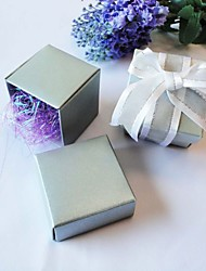 Square Favor Box In Pearl Silver (Set of 24)