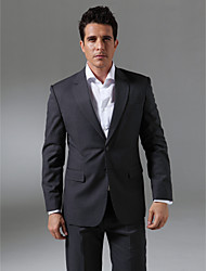 Custom Made Single Breasted Two-button  Notch Lapel Side-vented Men's Suit