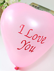 Wedding Décor Heart Shaped Balloon(100 pcs)