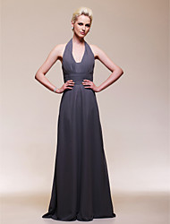 Formal Evening/Wedding Party Dress Plus Sizes Sheath/Column V-neck Floor-length Chiffon