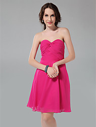 LAN TING BRIDE Knee-length Strapless Sweetheart Bridesmaid Dress - Sexy Sleeveless Chiffon