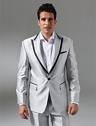 Custom Made Single Breasted One-button Peak Lapel Center-vented Groom Tuxedo