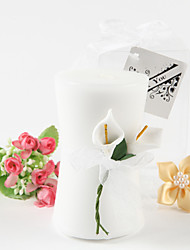 Tema Floral Favores da vela Piece / Set Velas Não-Personalizado Branco