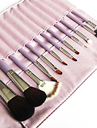 Lovely Purple Makeup Brush with Free Leather Pouch  (12 Colors)