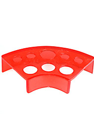 Fan Shape Red Plastic Ink Cup Holder