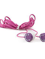 Smile Face In-Ear Stereo Earphone for MP3/MP4 (Purple)