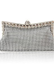Women Satin Event/Party Evening Bag Gold Silver Black