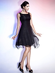 A-Line Princess Straps Knee Length Chiffon Cocktail Party Homecoming Holiday Dress with Draping by TS Couture®