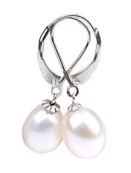 Fabulous AA Freshwater Pearl With 925 Silver Plated Earrings