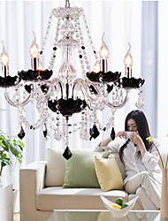 Max 40W Chandelier ,  Modern/Contemporary Chrome Feature for Crystal Glass Living Room / Bedroom / Hallway