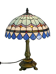 Antique Inspired Table Light in 6 - Color Lampshade