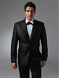 Single Breasted One-button Peak Lapel No vented Groom Tuxedo