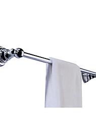 "Towel Bar Chrome Wall Mounted 65 x 610 x 75mm (2.55 x 24.0 x 2.95"") Brass Contemporary"
