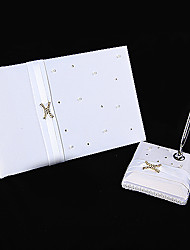 """Love Ever Lasting"" Wedding Guest Book And Pen Set Sign In Book"
