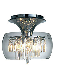 Modern Crystal Semi Flush Mount with 3 Lights (G9 Bulb Base)