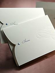 Cartes d'invitation Invitations de mariage Plis Roulés Non personnalisés