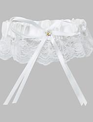 Garter Lace / Polyester Beading / Ribbon White