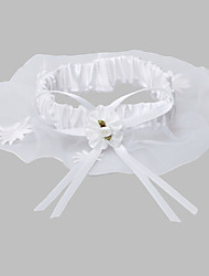 Garter Polyester Flower / Ribbon White