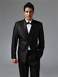 Single Breasted Three-button Peak Lapel Center-vented Groom Tuxedo