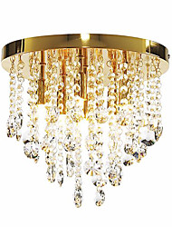 Modern Crystal Semi Flush Mount with 6 Lights (G9 Bulb Base)