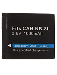 1000mAh 3.7V Digital Camera Battery NB-8L for CANON PowerShot A3100,A3000,IS