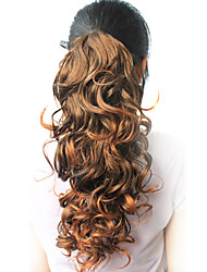 """High Quality Synthetic 18.50"""" Curly Natural Dark Brown Ponytail"""