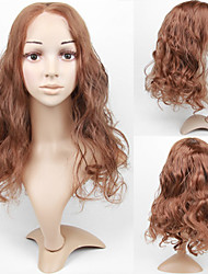 Lace Front Long Golden Blonde Body Wave High Quality Synthetic Wig with Side Bang