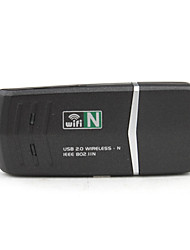 802.11n/b/g 150 Mbps WiFi / WLAN USB Adaptador de red inalámbrico (negro)