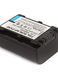 1050mAh bateria câmera NP-FV50 para Sony HDR-ux5e, HDR-HC7E e mais