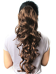 """High Quality Synthetic 21.63"""" Dark Brown Curly Ponytail"""