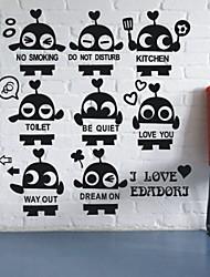 pequenos robôs set adesivos de parede (1985-p31)