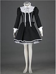 Un Pezzo/Vestiti Lolita Classica e Tradizionale Lolita Cosplay Vestiti Lolita Collage Monocolore Manica lunga Lunghezza mediaAbito