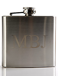 Gift Groomsman Personalized Metal 5-oz Flask - Monogram