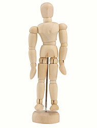 "Wooden 14-Joint Moveable Manikin Model with Display Base (5.5"")"