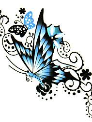 5 pcs borboleta tatuagem temporária à prova d'água (6m * 6cm)