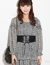 Black White Leopard Dress