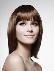 Lace Front 100% Human Hair Medium Length Bob Style Hair Wig 5 Colors To Choose