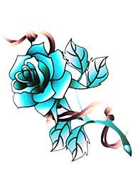 Водонепроницаемые временные татуировки, цветок (6м * 6 см), 5 шт.