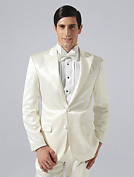 Single Breasted Two-button Peak Lapel Groom Tuxedo