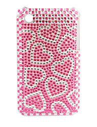 funda de primera vuelta de protección con cristales para el iPhone 3G/3GS (corazón rojo)