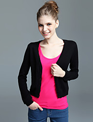 Deep V-Neck Cashmere Cardigan (2 colors)