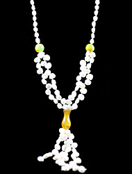 Gorgeous Fresh Water Pearl/ Jade Wedding Bridal Necklace
