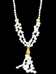 великолепный пресной воды жемчужина / нефрита свадьбы свадебный ожерелье