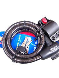 Moto Locks Bicicleta Ciclismo/Moto Preta Aço de Carbono