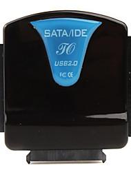alles-in-een SATA / IDE naar USB 2.0 converter (zwart / blauw)
