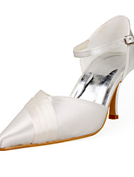 Satin Upper Closed Toe Stiletto Heel With Ruched Wedding Shoes More Colors Available