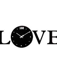i love you horloge murale en acrylique mute